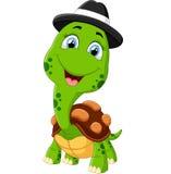 lycklig sköldpadda för tecknad film Arkivbild