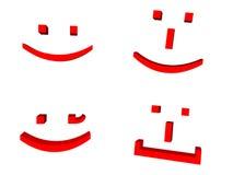 lycklig smiley för framsida Arkivbild