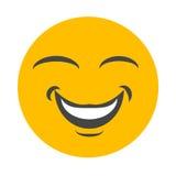 Lycklig smileyframsida Fotografering för Bildbyråer