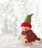 Lycklig snögubbe Arkivbild
