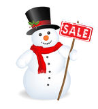 lycklig snowman Arkivbilder