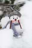 Lycklig snowman Arkivfoto
