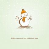 lycklig snowman för jul Fotografering för Bildbyråer