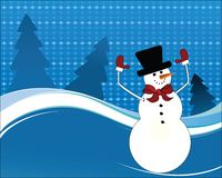 lycklig snowman för luftarmar Royaltyfria Bilder