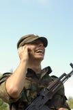 lycklig soldat Fotografering för Bildbyråer