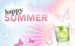 lycklig sommar vektor illustrationer