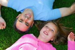 lycklig sommar för familj Royaltyfria Bilder