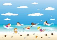 lycklig sommartid stock illustrationer