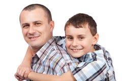 lycklig son för fader Royaltyfri Bild