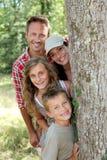 lycklig stående för familj Royaltyfri Fotografi