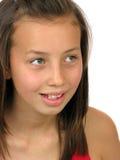 lycklig stående för flicka Arkivbilder