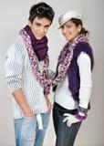 lycklig stående för par Royaltyfria Foton