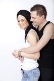 lycklig stående för par royaltyfri bild