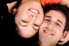 lycklig stående för par Fotografering för Bildbyråer