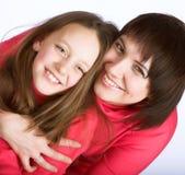 lycklig ståendestudio för familj royaltyfri foto