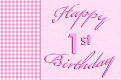 Lycklig 1st födelsedag Royaltyfri Fotografi