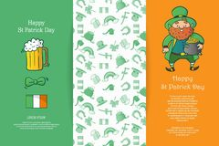 Lycklig St Patrick Day stock illustrationer