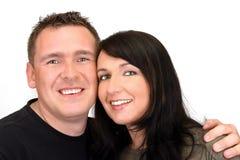lycklig stående för par Arkivfoton
