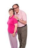 lycklig ståendepensionär för par Arkivfoton