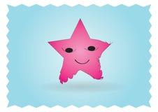 lycklig stjärna för tecken Arkivbild