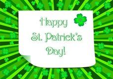 Lycklig Sts Patrick dagaffisch Royaltyfri Fotografi