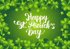 Lycklig Sts Patrick dagvykort Arkivfoton