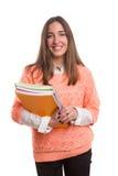 Lycklig student! Fotografering för Bildbyråer