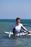 lycklig surfare Arkivfoto