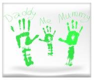 lycklig symbol för familj Arkivbild