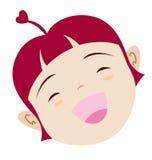 lycklig symbol för flicka Arkivfoton