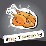 lycklig tacksägelse royaltyfri illustrationer