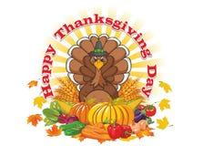 lycklig tacksägelse för dag vektor illustrationer