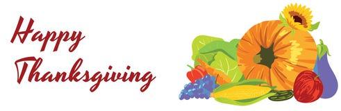 Lycklig tacksägelse, grupp av frukter och grönsaker Royaltyfria Foton