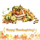 Lycklig tacksägelse! Hälsningkort Fotografering för Bildbyråer