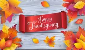 Lycklig tacksägelseaffisch Arkivfoto