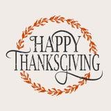 Lycklig tacksägelsedaglogotyp, emblem och symbol Arkivfoton