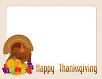 lycklig tacksägelsekalkon royaltyfri illustrationer