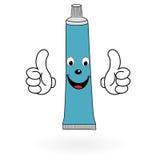 Lycklig tandkräm Arkivfoto