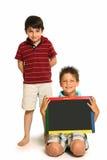 lycklig tavla för pojkar arkivbilder