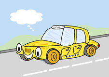 Lycklig taxi royaltyfria foton