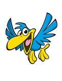 Lycklig tecknad filmfågel Fotografering för Bildbyråer
