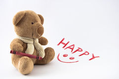 Lycklig Tedy björn Royaltyfri Bild