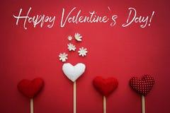 Lycklig text för dag för valentin` s Arkivbilder