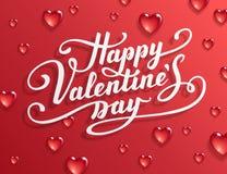 Lycklig text för dag för valentin` s royaltyfri illustrationer