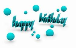 lycklig text för födelsedag Fotografering för Bildbyråer