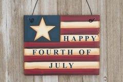 Lycklig 4th av den Juli hälsningen Royaltyfria Bilder