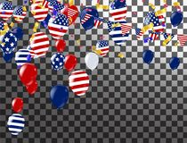 Lycklig 4th av det Juli feriebanret USA självständighetsdagen Celebrati vektor illustrationer