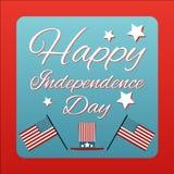 Lycklig th 4 av Juli kortAmerikas förenta stater Lycklig independ royaltyfri illustrationer