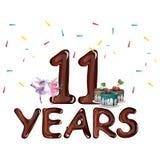Lycklig 11th födelsedag Royaltyfri Fotografi