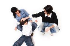 lycklig tid för familj Fotografering för Bildbyråer